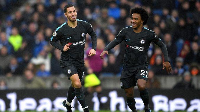 """""""Não sabemos o que acontecerá com Hazard no Chelsea"""", diz Willian E10e5-10"""