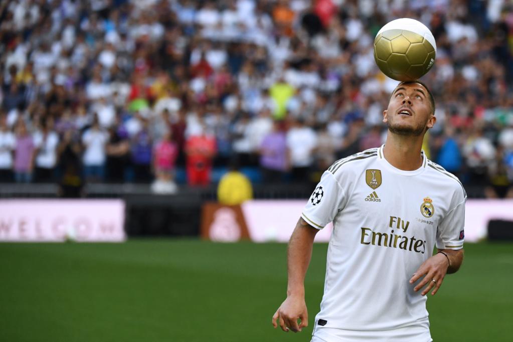 Hazard é apresentado pelo Real Madrid Eden-h10
