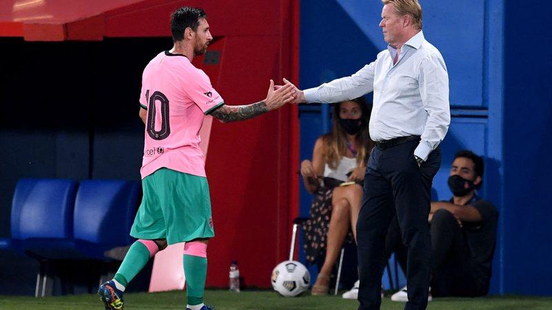 """Koeman protege Messi no Barcelona: """"quem vazou o contrato tem que sair"""" Gettyi37"""