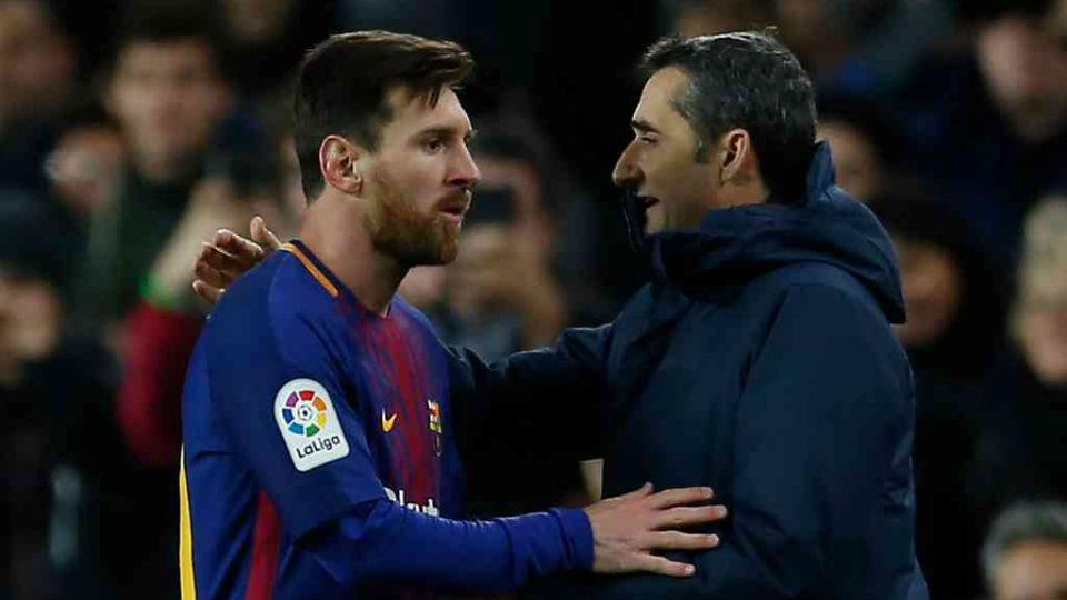 """Messi: """"Valverde não teve culpa por eliminação para o Liverpool"""" Messi-10"""