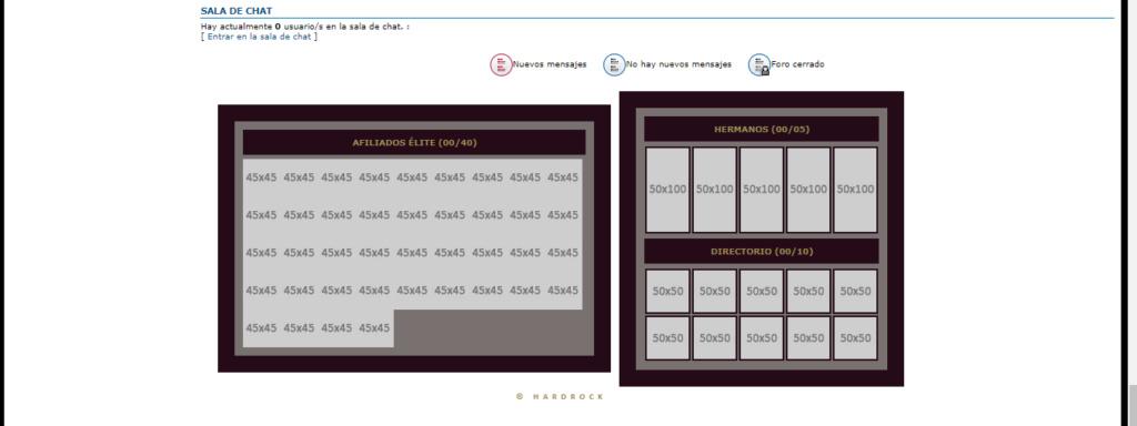 El CSS de la tabla de afiliados no carga, y el Chatbox esta hasta arriba del foro Screen10