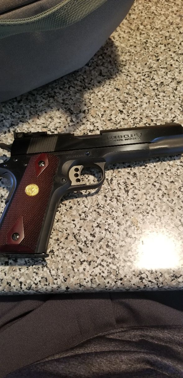 Just bought Colt Gold Cup National Match 70 series 45 caliber. Question? 20191010