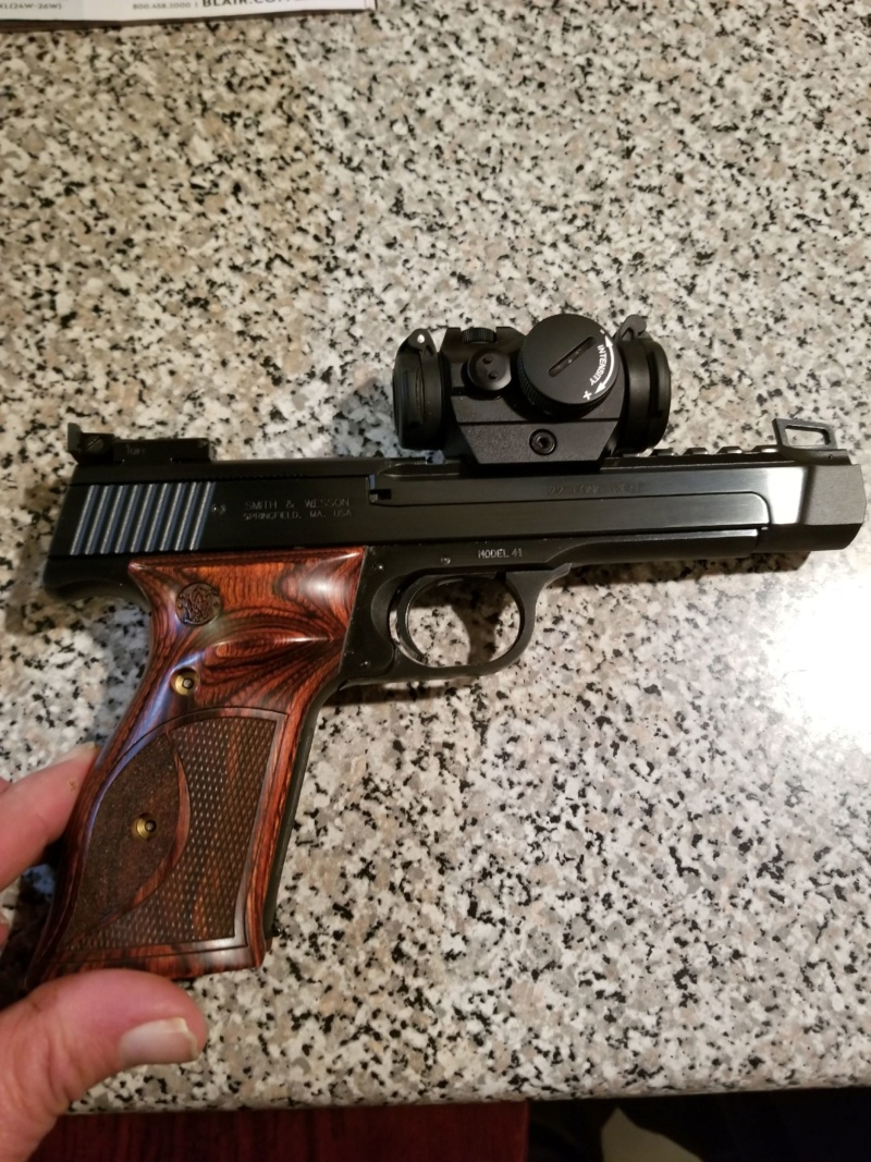 FS Stunning Smith and Weson Model 41 with Aimpoint H2 red dot. 20200113