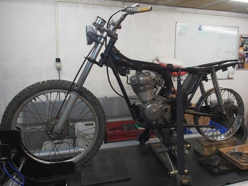 Restauration d'une Honda 125 TL dans l'Oise Honda125