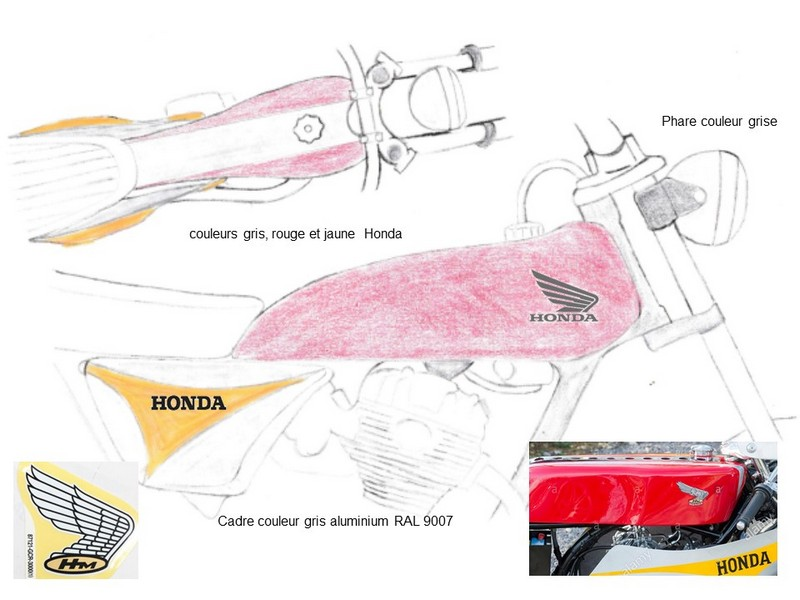 Restauration d'une Honda 125 TL dans l'Oise Honda134