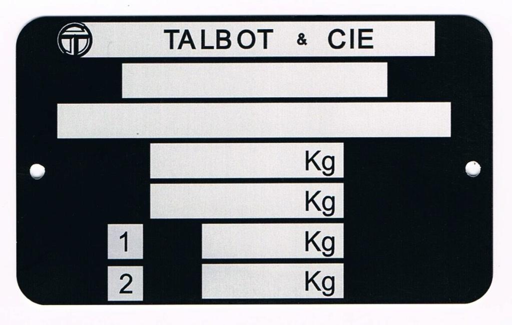 Talbot Samba Rallye 90ch - Page 5 Plaque11