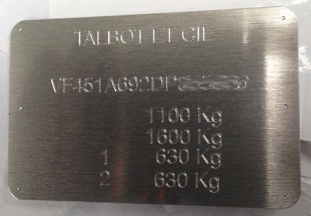 Talbot Samba Rallye 90ch - Page 6 Plaque12