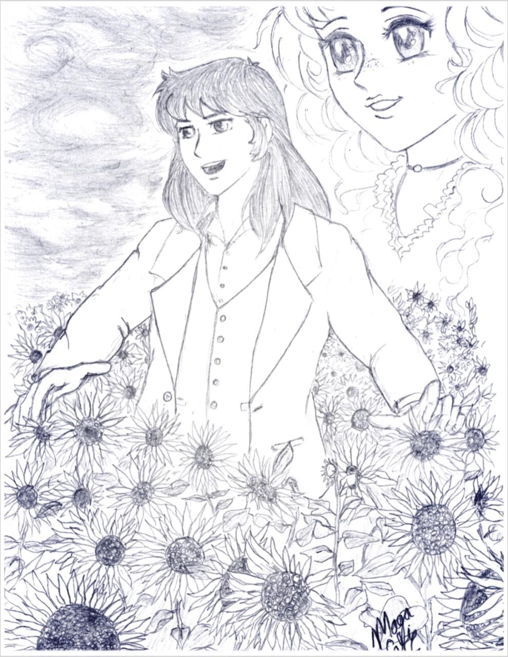 Fanart: Sunflower, dibujó a lápiz  Sunter10