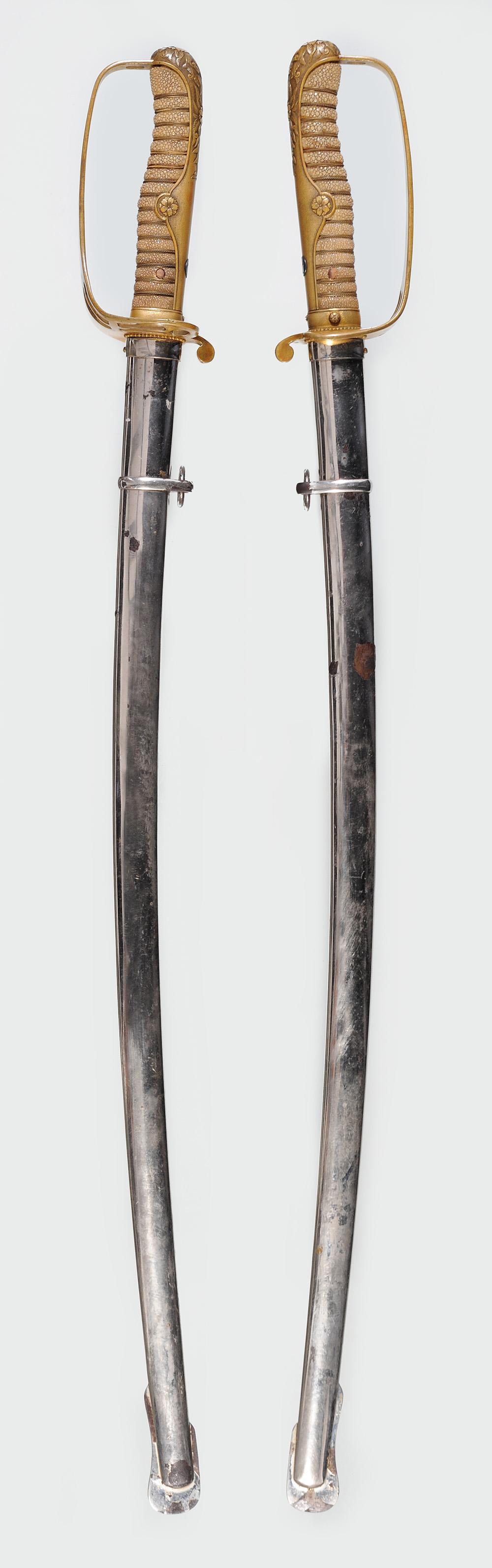 Sabre d'officier de cavalerie japonais Type 19 (1886) Ks10