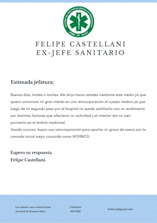 [Carta] Felipe Castellani. Same10