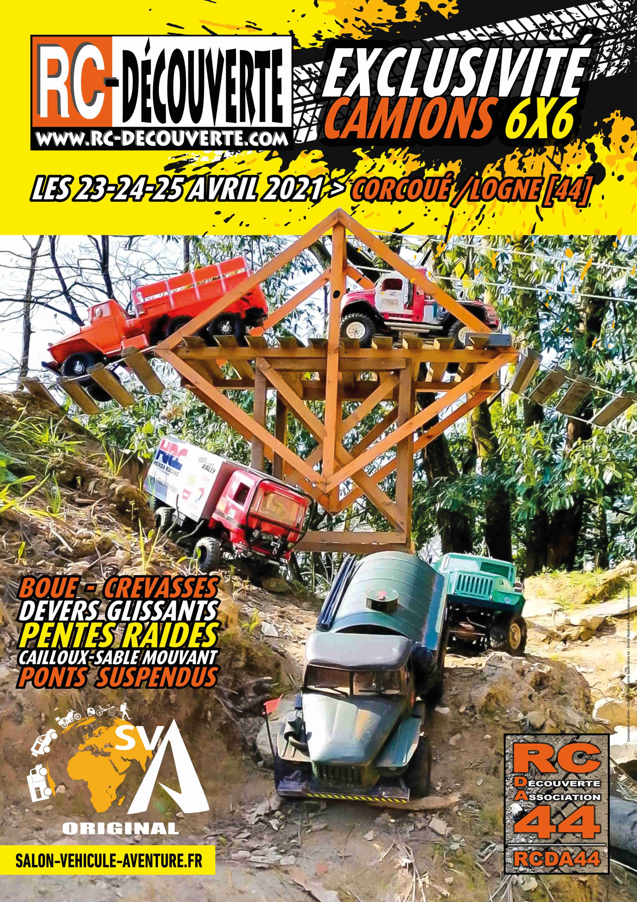 Salon du Véhicule d'Aventure SVA 2021 - Corcoué sur Logne (44) : du 11 au 13 juin - Page 3 Affich15