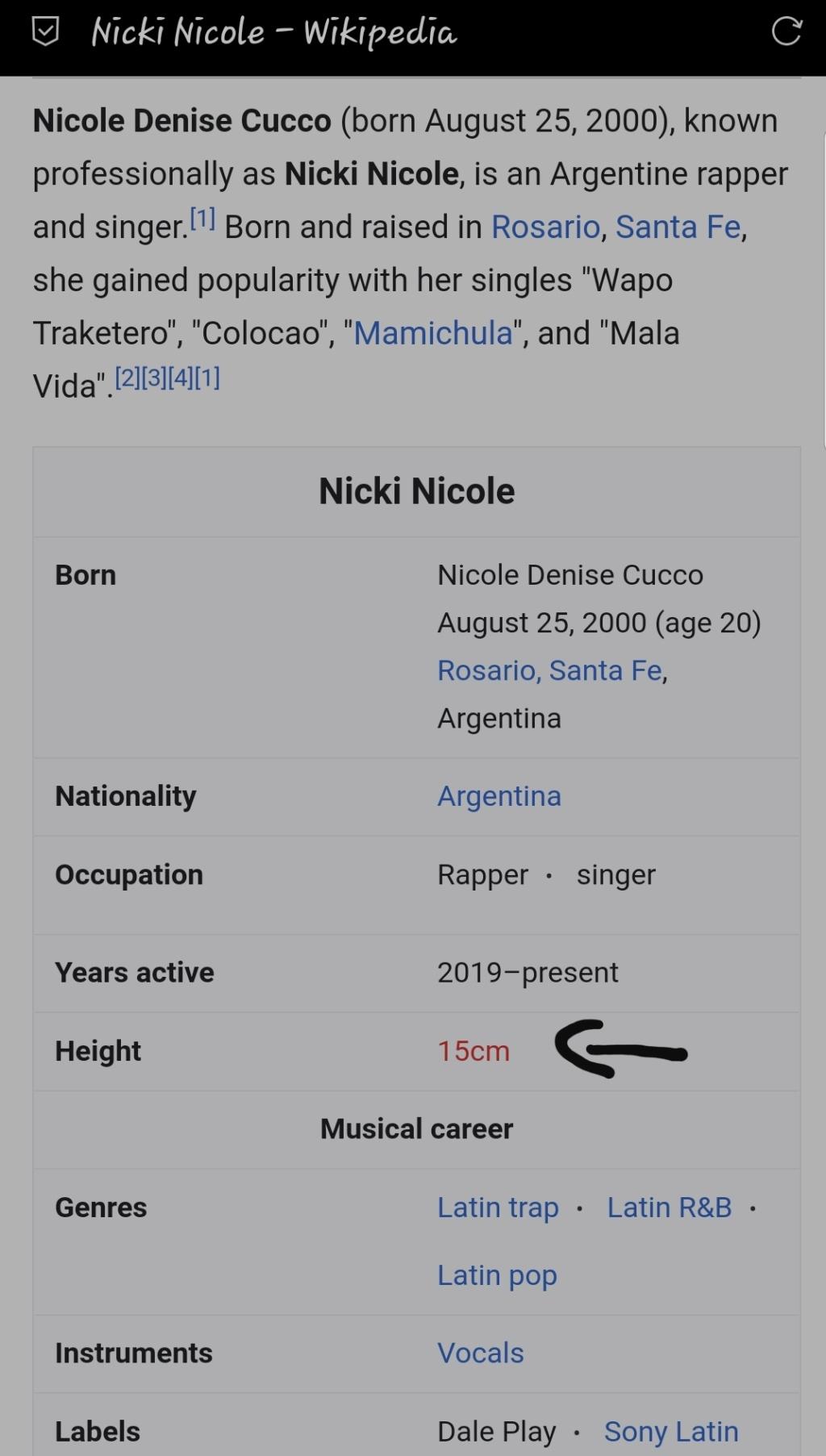 ¿Cuánto mide Nicki Nicole? - Altura real: 1,42 - Página 4 20210715
