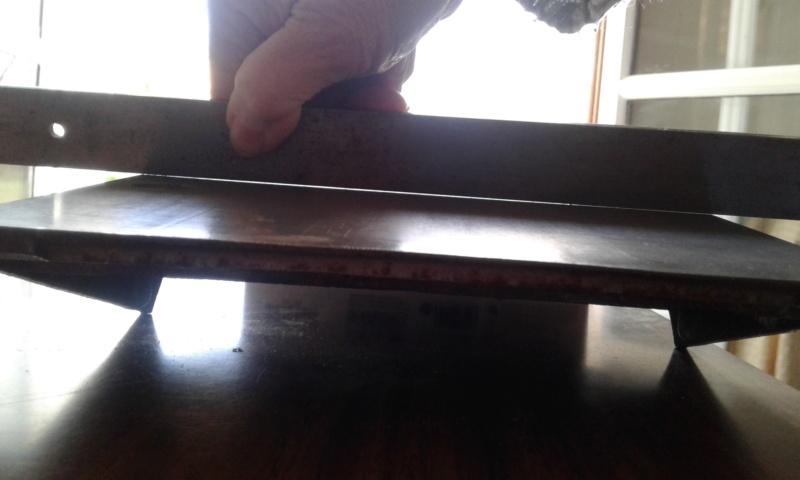 Rectifier une table de dégauchisseuse Milieu14