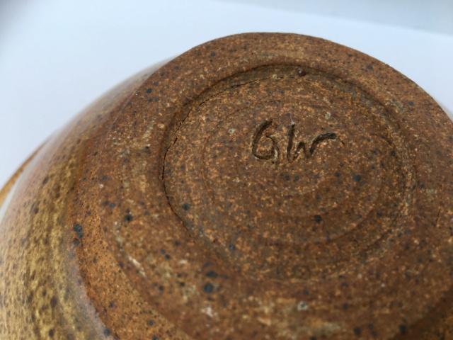 Nice glazed bowl, GW mark - possibly Gordon Whittle  Img_2024
