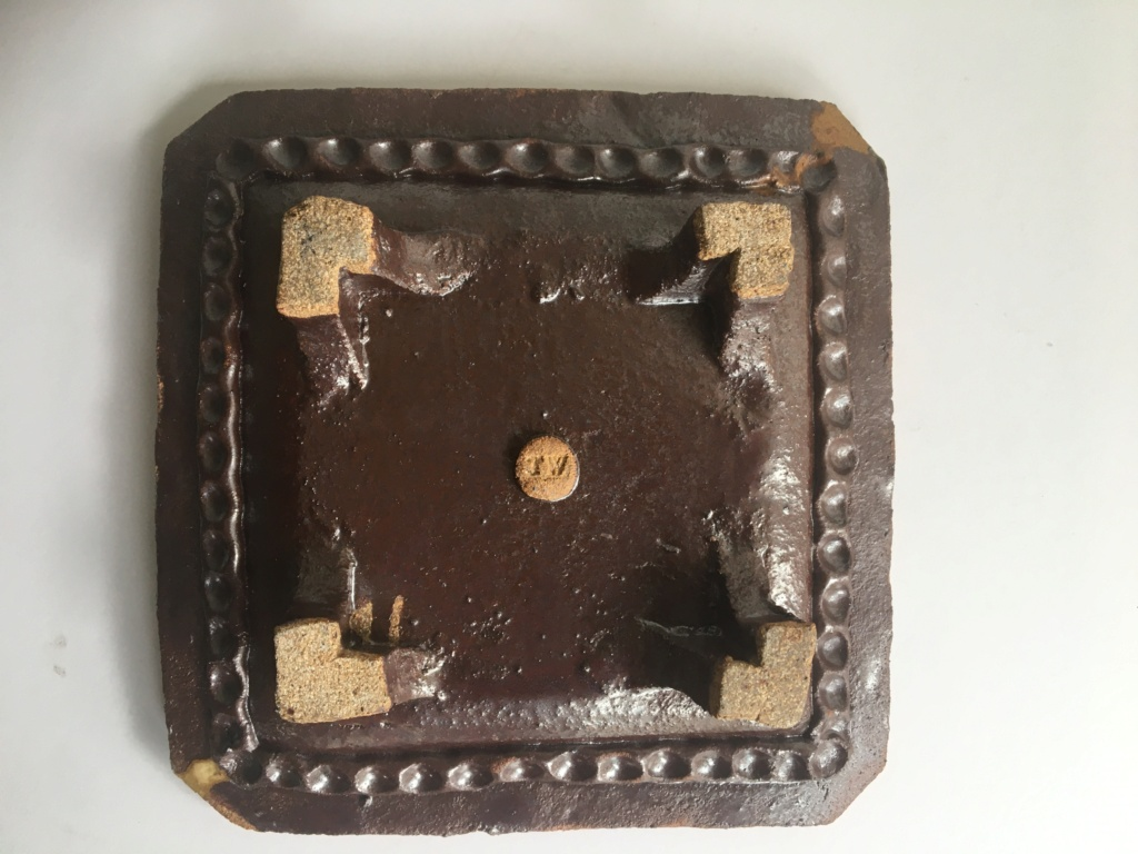 Square plate with feet. Img_2132