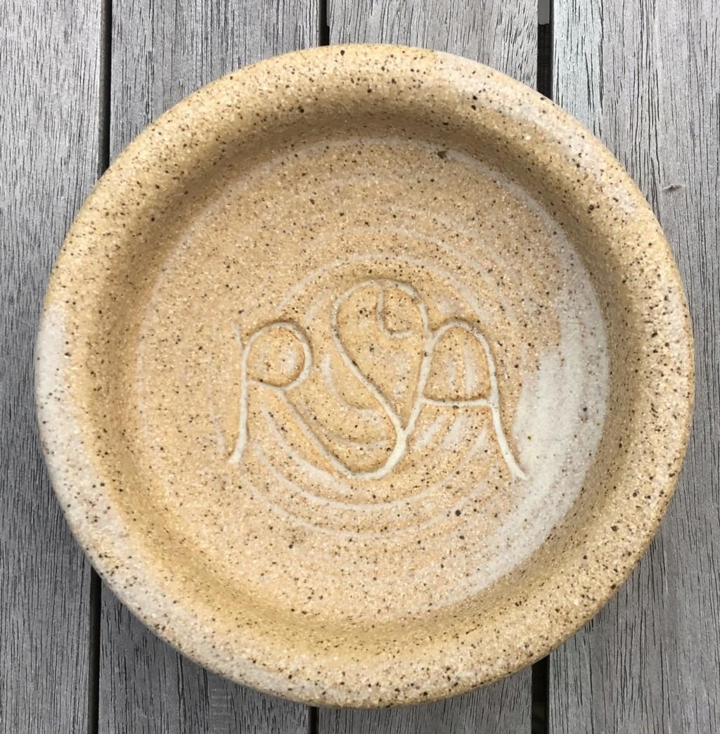 RSA monogrammed dish  Img_2714