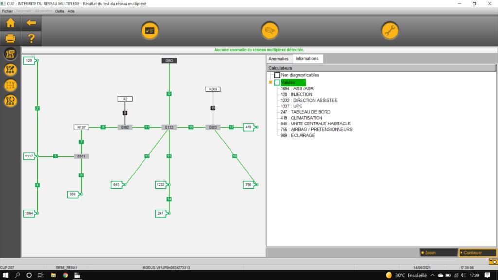 Anomalie réseau can Captur16