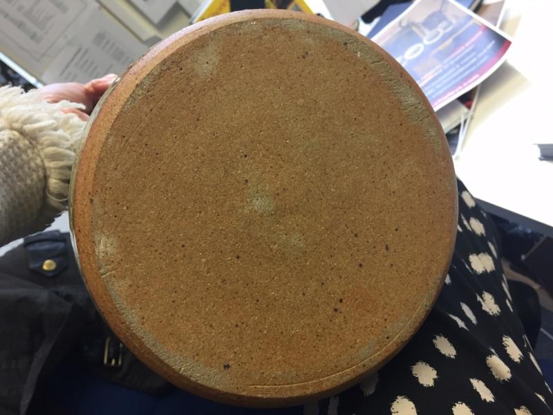 Ash glaze stoneware jug, mystery BS mark Img_0214