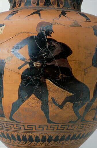 """AMPHORE représentant """"Héraklès et le Lion de Némée"""" Harakl10"""