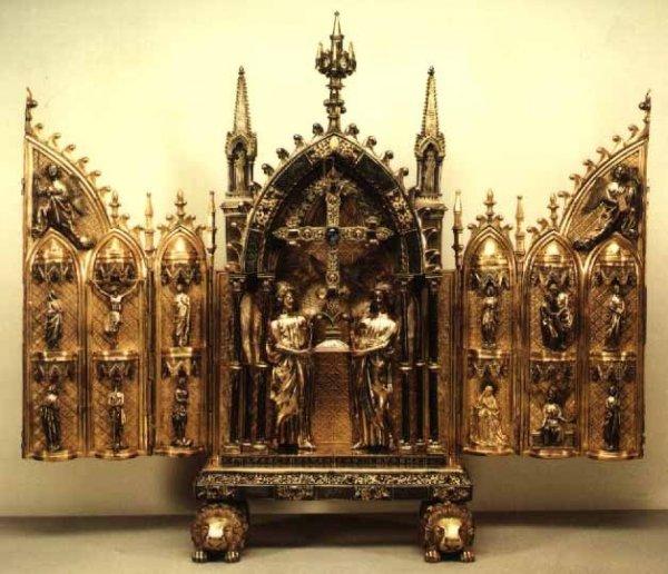 RELIQUAIRE DE LA VRAIE CROIX -- Abbaye de Floreffe (Namur) Reliqu10