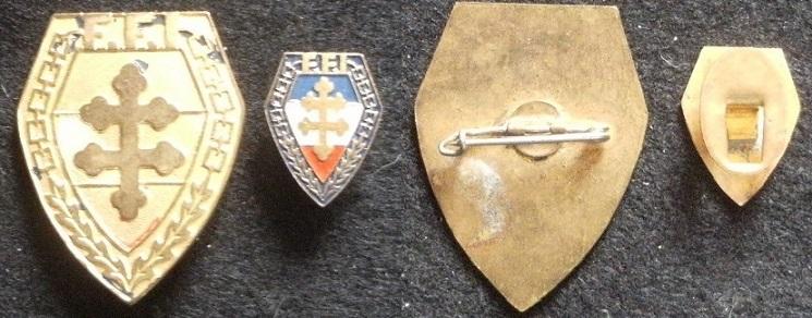 Insigne du 149e R.I.F. F.F.I. et sa boutonnière Gourbi47