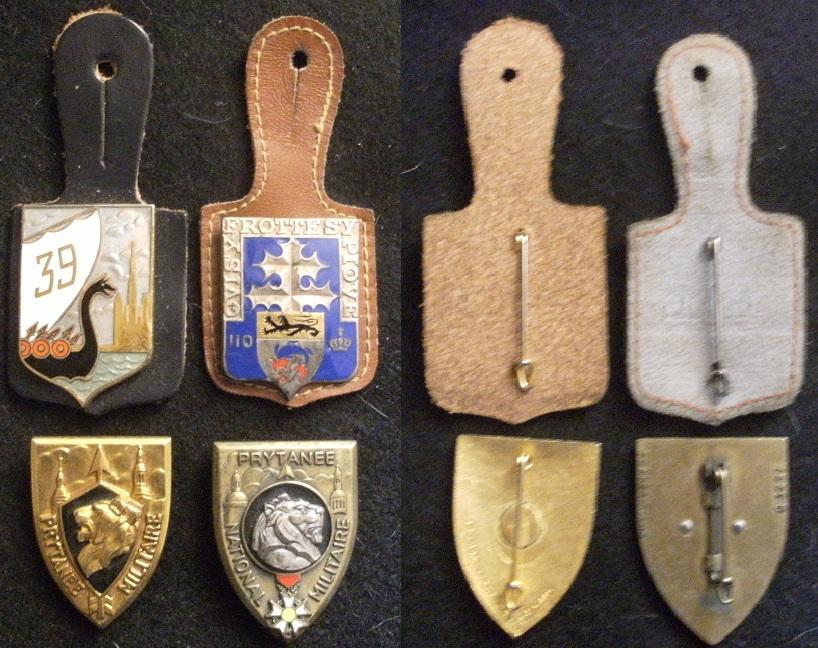 Lot de 4 insignes (Prytanée; R.I.) ESC - SEPT 5 (TERMINE) Lot_fr10