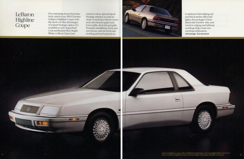 Brochures LeBaron 1992_c25