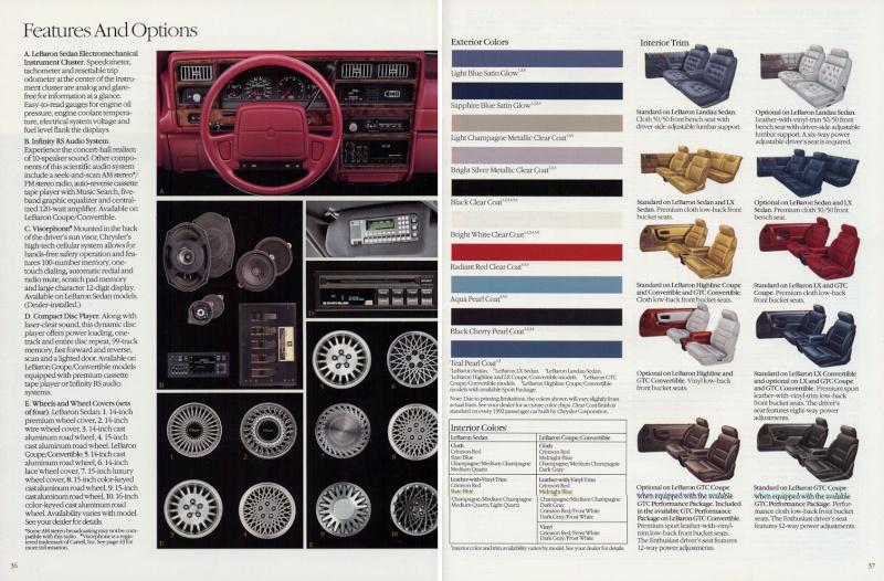 Brochures LeBaron 1992_c31