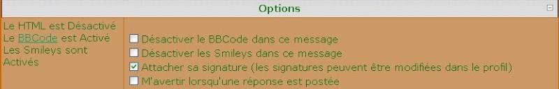 Les différents boutons du forum et leurs fonctionnements Option10