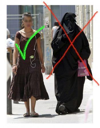 France : Le voile intégral, la burqa, le niqab... sont interdits en public ! Niqab-10