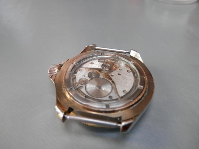 vostok or cadran vierge et fond transparent P2030310