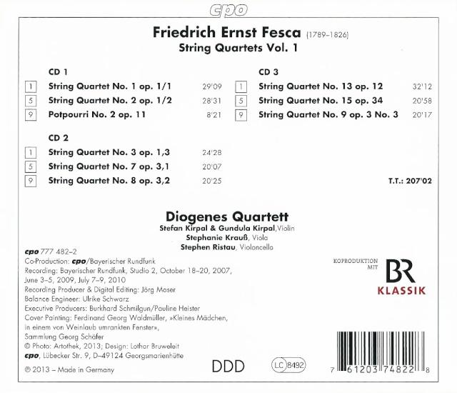 Friedrich Ernst FESCA (1789-1826) Back18
