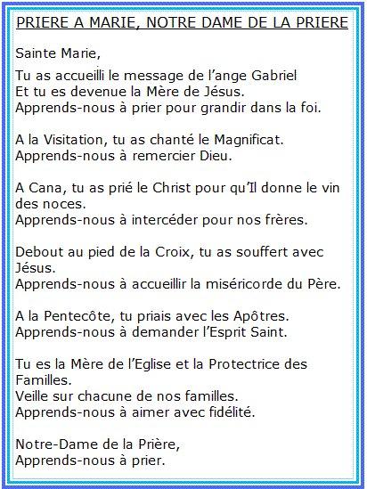 Priere du soir - Page 4 Marie10