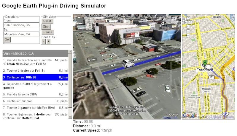 Simulation d'itinéraire avec le plugin GE Gedriv10