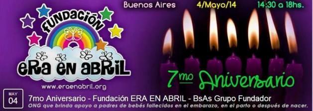 """4/5/14-Te invitamos al 7mo ANIVERSARIO DE LA FUNDACIÓN """"ERA EN ABRIL"""" (en BUENOS AIRES) 15545910"""