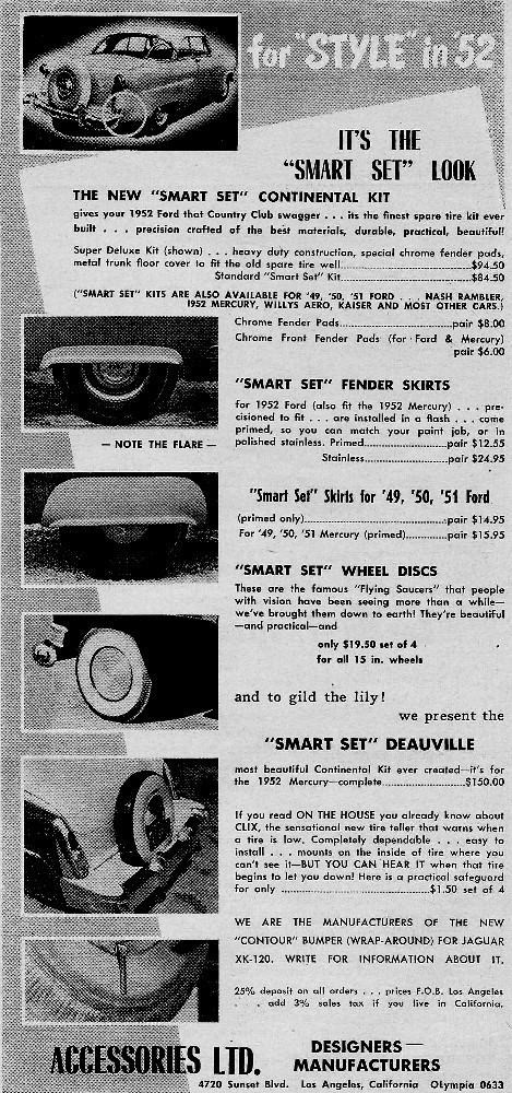 Les Incontournables accessoires pour nos anciennes - hot rod, custom and classic accessories and parts - Page 3 1952mo13