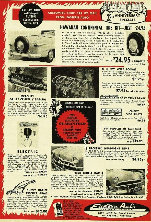 Les Incontournables accessoires pour nos anciennes - hot rod, custom and classic accessories and parts - Page 3 1952mo14