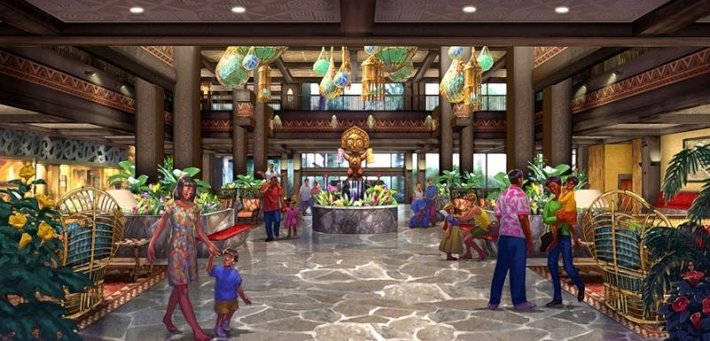 [Disney's Polynesian Village Resort] Relooking de l'hôtel + Disney Vacation Club (2015) Lobby10