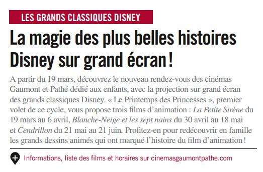 Retour des classiques Disney dans les cinémas Gaumont Pathé Repris10