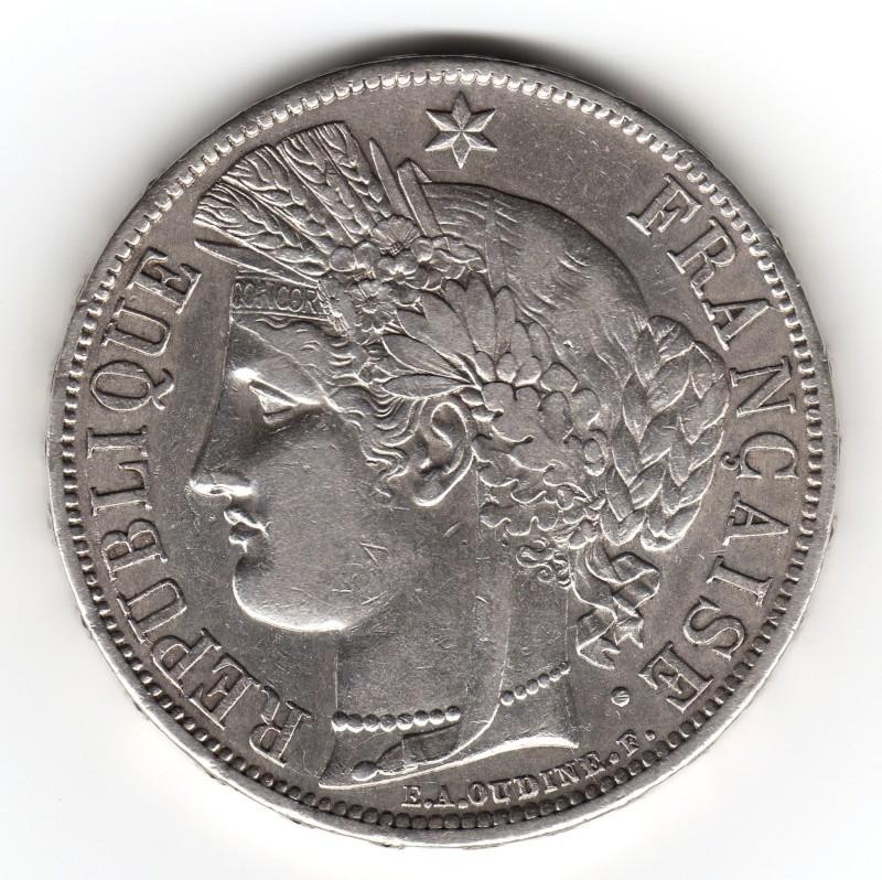 5 Francs. Francia. 1870. París 1050_110