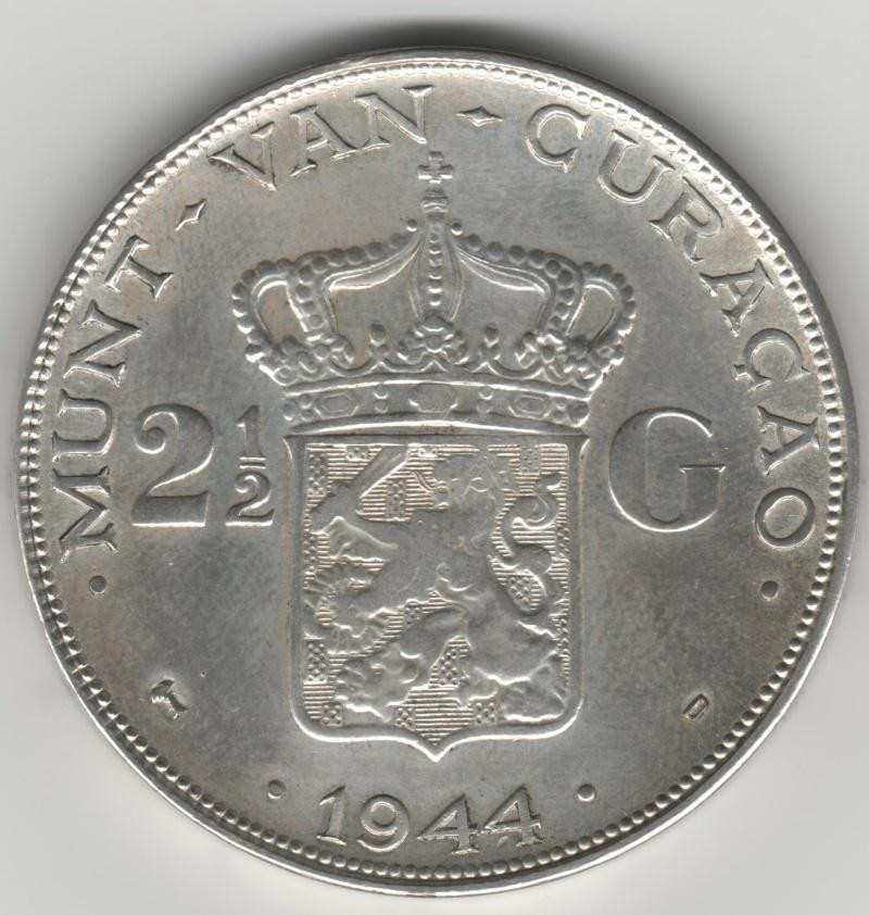2 1/2 Gulden. Curaçao. 1944. Denver Img40111