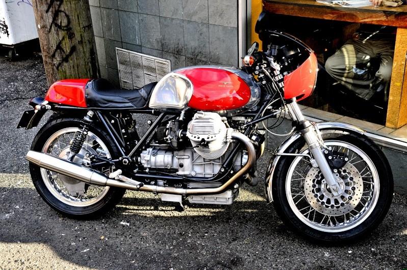 Magnifique Cafe racer Guzzi!! Oldred10