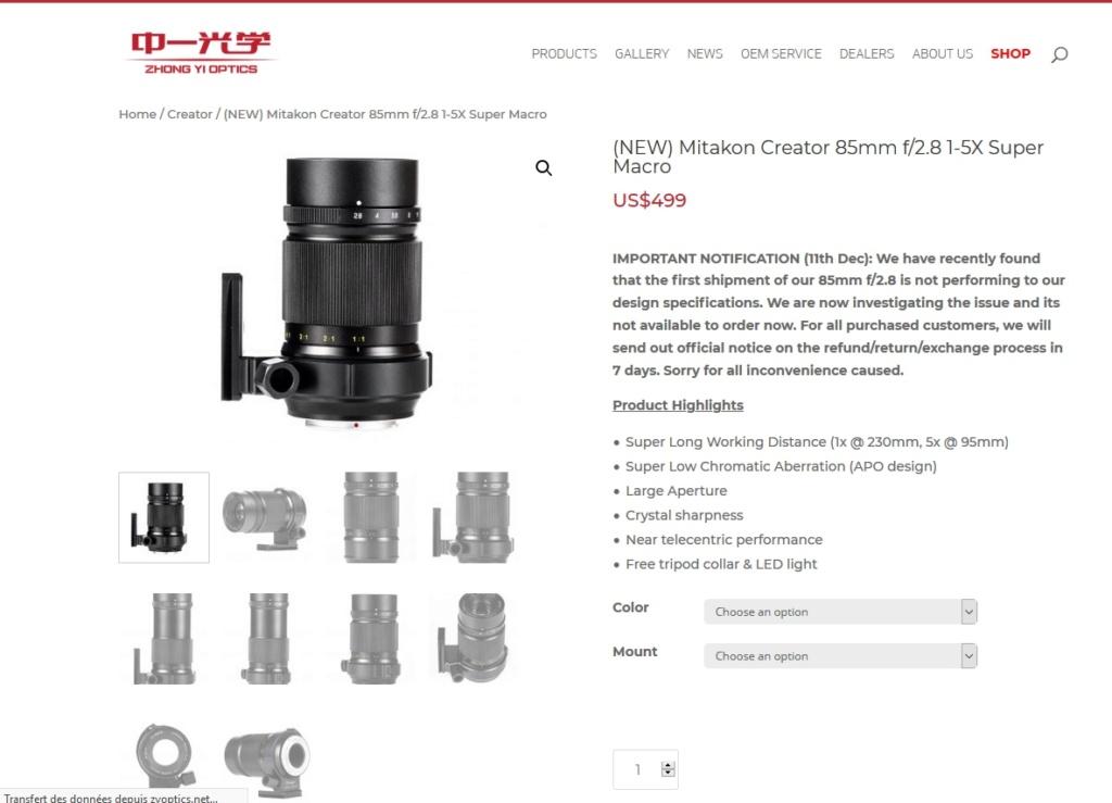 Zhong Yi Mitakon 85mm f/2.8 1-5x Super Macro Mitako10