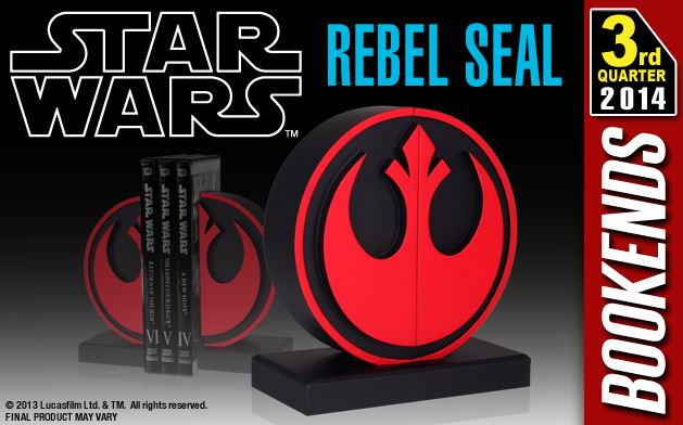 Gentle Giant - Star Wars - Rebel Seal Bookends Bookre10