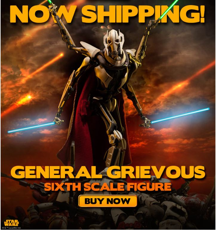 Sideshow - General Grievous - Sixth Scale Figure Genera11