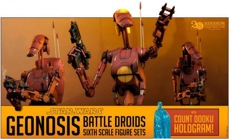 Sideshow - Geonosis Battle Droids Sixth Scale Figure Sets Geonos10