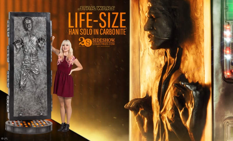 Sideshow - Han solo in Carbonite - Life Size Figure Hanlif10