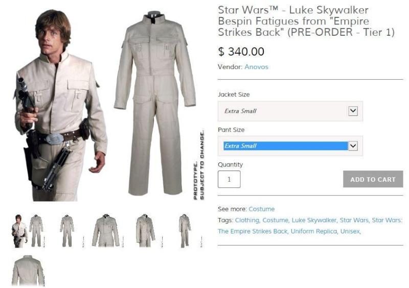 Anovos - Star Wars - Luke Skywalker Bespin Fatigues ESB Luke_b10