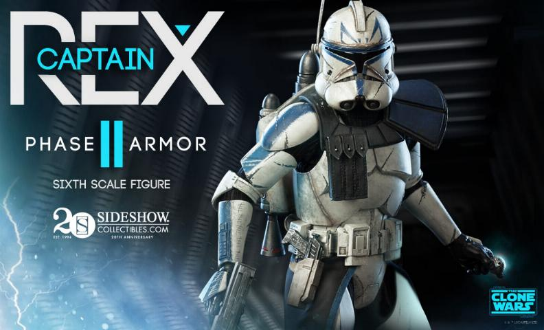 Sideshow - Captain Rex – Phase II Armor Sixth Scale Figure Rexiis10