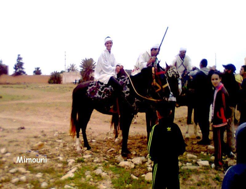 Ouled Mimoune renoue  avec Le cheval et les arts équestres  (Tbourida) Photo011